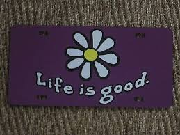 Life Is Good Daisy Decal Sticker License Plate Purple Life Is Good Hippie Car Decals Stickers
