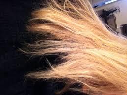 hair breaking off after bleaching