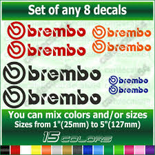 Brembo Brake Caliper Decals 50mm X2 Vinyl Sticker Graphics Car N2068 For Sale Online Ebay