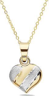 pori jewelers 14k solid gold heart