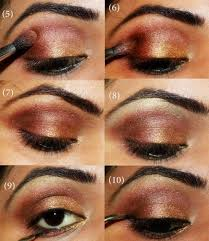 indian bridal eye makeup step by