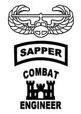 Sapper Combat Engineer Castle Vinyl Window Sticker Decals 3 X Pieces For Sale Online Ebay
