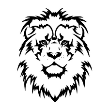 4 X 5 5 In Lion Head The King Of Beasts Car Decals Black Silver Catrescue