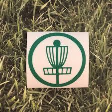 Basket Disc Golf Vinyl Decal Sports Net Sticker Disc Golf Etsy