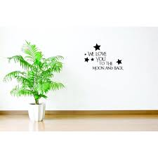 Custom Wall Decal Sticker We Love You To The Moon And Back Text Lettering Quote Living Room Bedroom Home Decor 20 X40 Walmart Com Walmart Com