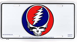 Grateful Dead Steal Your Face Skull Metal License Plate Sold By Auto License Plates And Frames Rakuten Com Shop