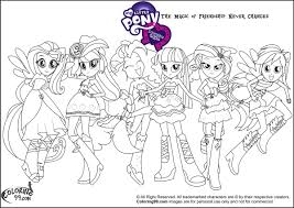 my little pony equestria coloring