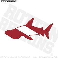 Hammerhead Shark Decal Diver Flag Rescue Diving Vinyl Sticker Lh Rotten Remains High Quality Stickers Decals