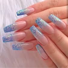 blue acrylic nails we love