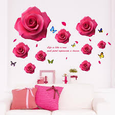 Pink Rose Petals Wall Stickers Life Is Like A Rose Each Petal Represents A Dream Wall Quote Saying Wallpaper Decor Poster Wall Decal Art Removable Wall Decor Removable Wall Graphics From Magicforwall