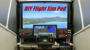 diy flight sim pod enclosed flight