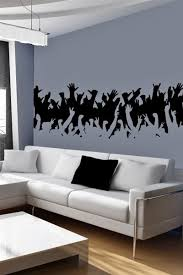 Concert Crowd Wall Decal Music Decals Walltat Music Wall Decal Home Decor Concert Crowd