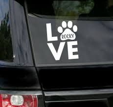 Car Decal Tumbler Decal Pet Decal Personalized Love Dog Decal