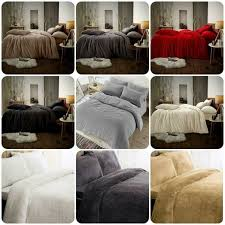 silentnight cosy teddy fleece duvet set