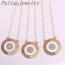 charm round pendant necklaces