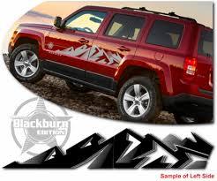 Jeep Patriot Body Side Graphic Kit 1 Blackburn Edition Sport Se Latitude High Altitude
