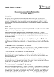 Https Www Shropshire Gov Uk Media 6358 Pgn06 Electric Fences On Public Rights Of Way Pdf