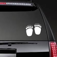 Bear Paw Prints Sticker