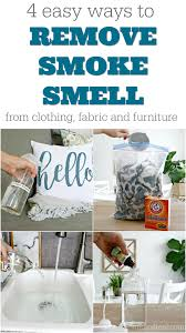 remove smoke smell from fabric