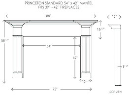 typical fireplace dimensions