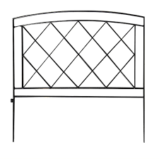 Vigoro Salerno 24 In Steel Garden Fence Black Garden Fence Panels Garden Fence Steel Fence Panels