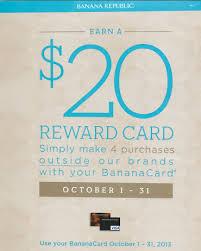 banana republic credit card 20 reward