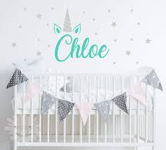 Amazon Com Unicorn Name Room Girls Name Decal Nursery Custom Name Sticker Personalized Wall Decal Baby Name Decal Kidsroom Handmade