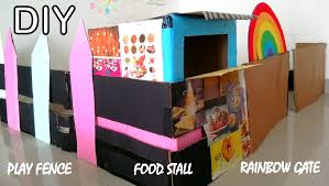 Diy Cardboard Play Fence Rainbow Gate Play Food Stall Pages From Serendipity