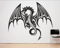 Dragon Wall Decal Etsy
