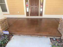 how to stain concrete floors exterior