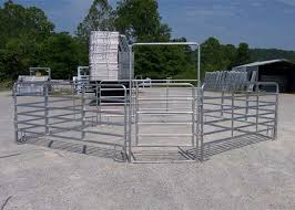 Hot Galvanized Heavy Duty Cattle Panels Horse Fence Panels With 1 8m H X 2 1m L 6 Rails