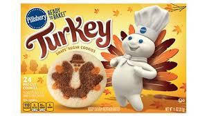 shape turkey sugar cookies