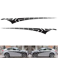 2pcs Car Side Body Sticker Racing Long Stripe Vinyl Decals Graphics Decor Sticker Diy Black Buy At The Price Of 14 00 In Aliexpress Com Imall Com