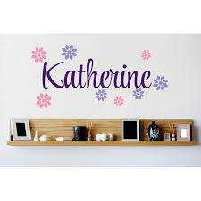 Personalized Name Vinyl Decal Sticker Custom Initial Wall Art Personalization Decor Flower Print Design Pattern 20 Inches X 40 Inches Walmart Com Walmart Com
