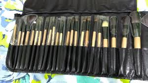 24 piece makeup brush set review