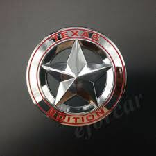 3pcs Metal Chrome Texas Edition Star Flag Car Emblems Badges Decal Sticker Rainbowlands Lk