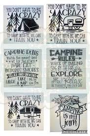 Camping Bucket Decal Options Shellebelle Custom Vinyl Boutique Facebook