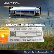 Ford F150 F250 F350 Bull Nose Front Grill Window Decal Sticker Pick Color In 2020 Window Decals F150 Front Grill