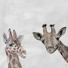 emme maribel the giraffes canvas art