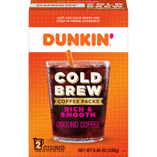 dunkin cold brew coffee packs smooth