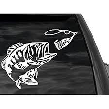 Amazon Com Fgd Bass Fishing Window Decal Sticker Car Truck Suv Boat 12 X9 Automotive