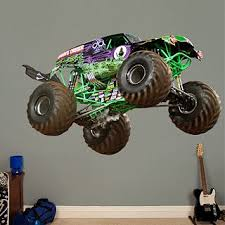 Grave Digger Monster Trucks Entertainment Monster Trucks Monster Truck Bedroom Monster Truck Room