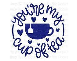 Tea Cup Decal Etsy