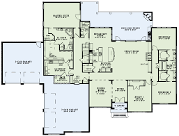 attached laundry first floor plan house