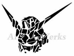 Unicorn Gundam Rx0 Head Vinyl Decal Sticker Robot Manga Anime Wall Window Car Ebay