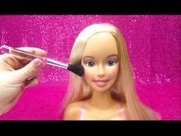 barbie wears real makeup doll