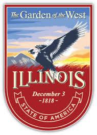 Illinois Usa State Vintage Badge Car Bumper Sticker Decal Sizes Ebay