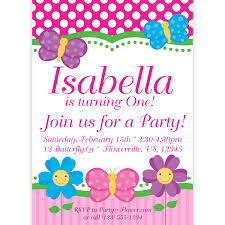 Butterfly Invitation Pink Polka Dots And Stripes Butterflies And
