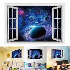 Galaxy 3d Space Planet Wall Stickers Decals For Kid S Room Home Decor New