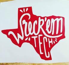 Texas Tech Wreck Em Decal Texas Tech Shirts Texas Tech Texas Tech Dorm